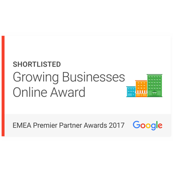 Google Premier Partner Awards 2017 Shortlist