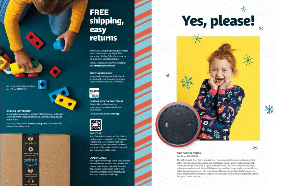 Pages from the Amazon Christmas Catalogue