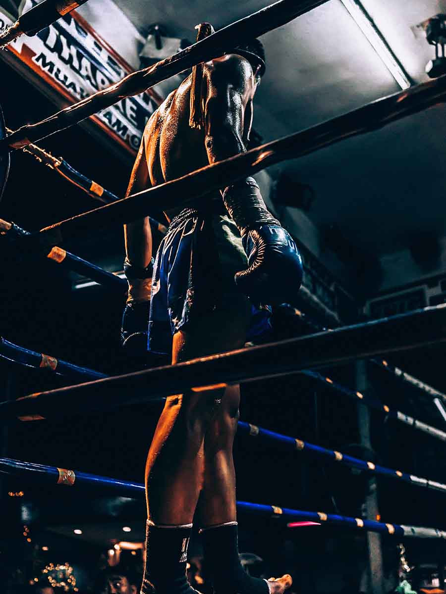 man standing in a boxing ring