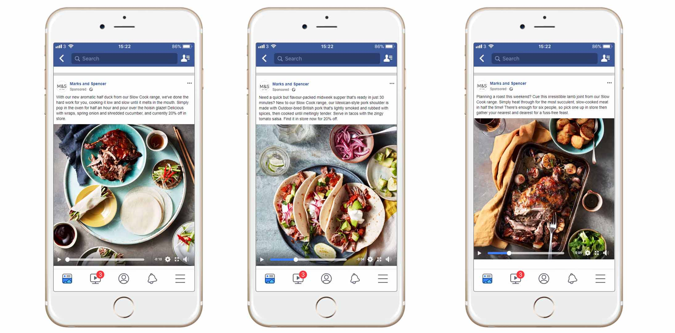 Marks & Spencer stop motion food videos for Facebook