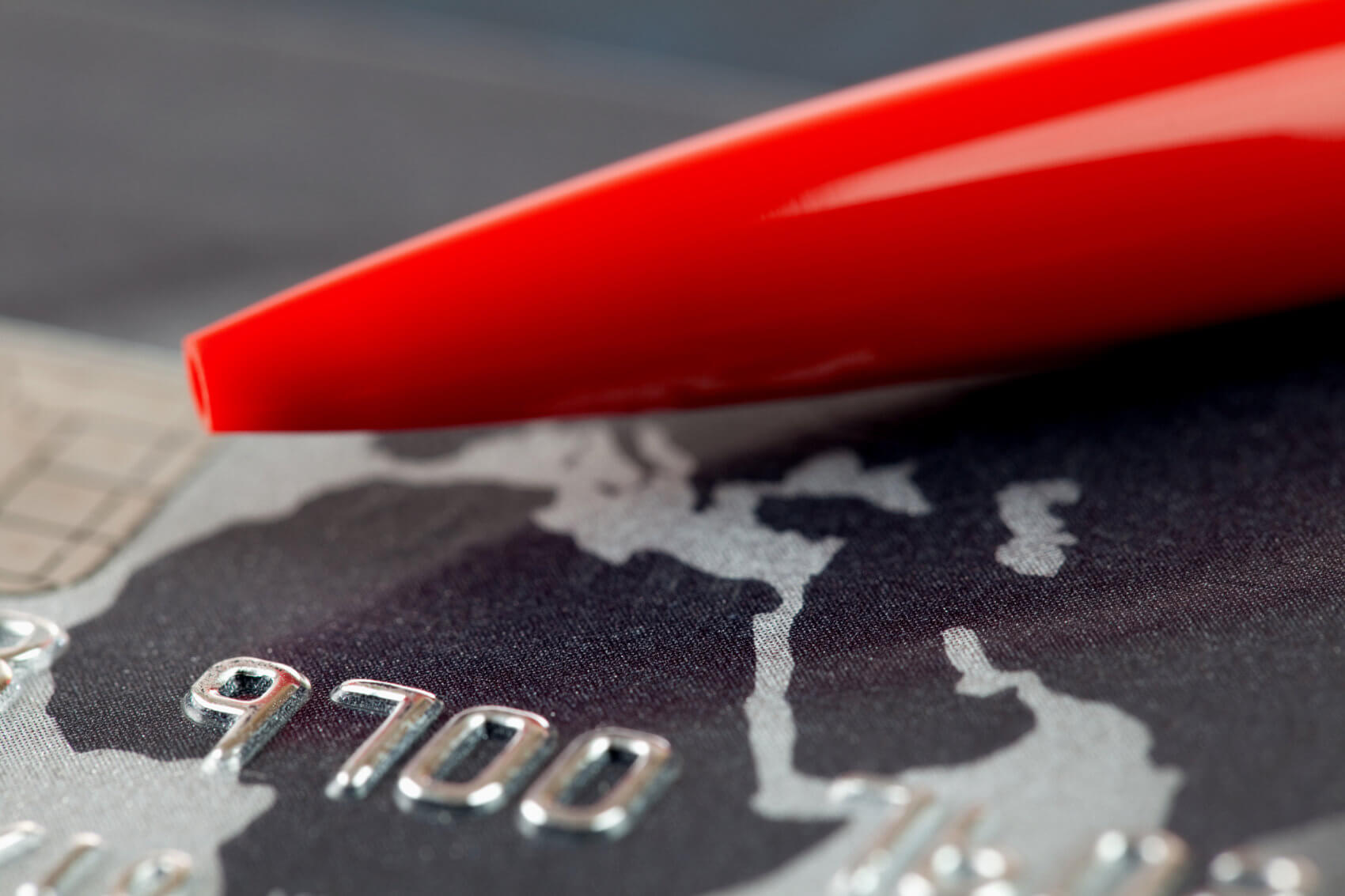 Credit card with Red Pen